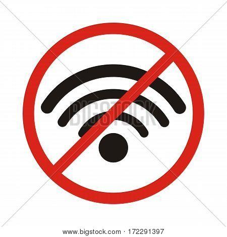 No signal sign vectorno signal area. No wi fi area
