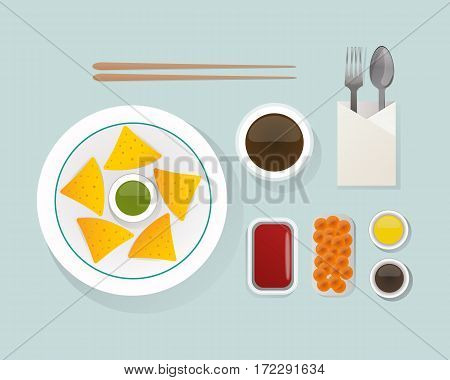 Healthy nutrition, proteins fats carbohydrates breakfast balanced diet cooking culinary and food concept vector. Morning natural vegetarian energy balance.