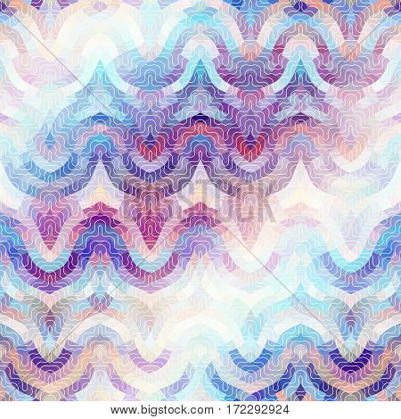 Seamless background pattern. Pink abstract wavy pattern