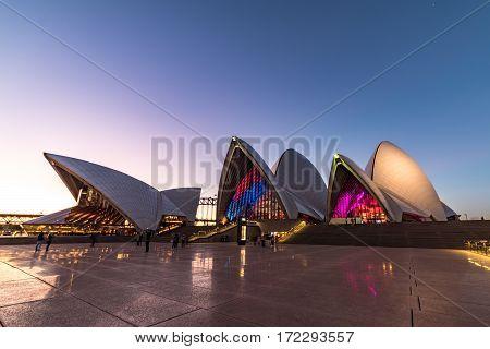 Vivid Sydney 2016 Light Festival Illumination Of Sydney Opera House