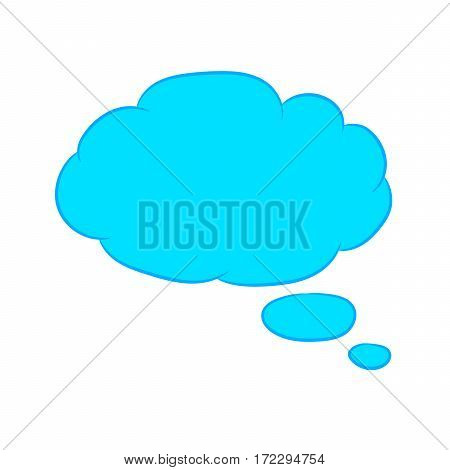 Cloud thought fly blue with trim of vector illustration