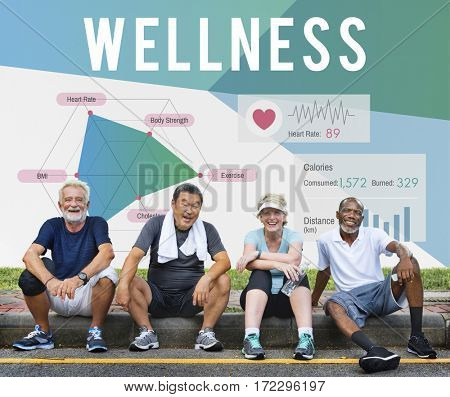 Diverse Senior Fitness Concept