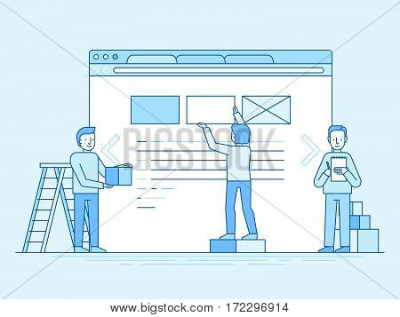 Web Design And User Interface Development Concept