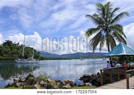 Savusavu Waterfront Vanua Levu Island Fiji