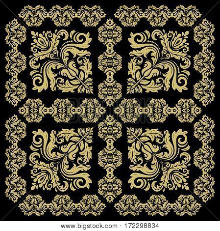Damask classic pattern. Seamless abstract background with repeating elements