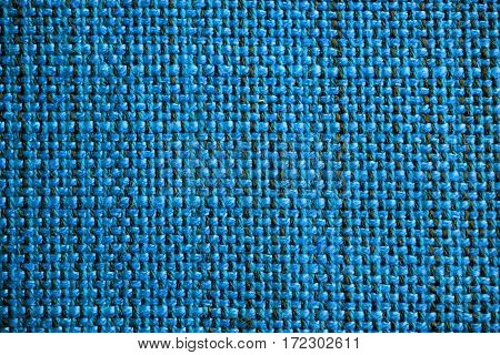 Blue fabric texture. Blue cloth background. Close up view of blue fabric texture and background. Abstract background and texture for designers.
