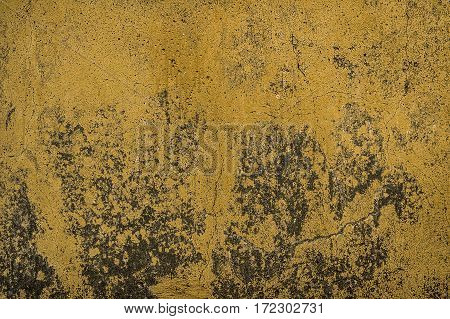 Plaster, yellow plastered wall, abstract plaster background, stucco, wall texture