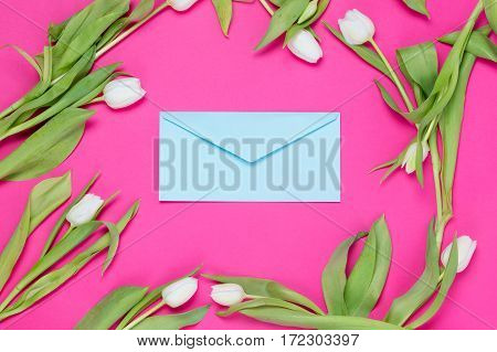Envelope And Tulips