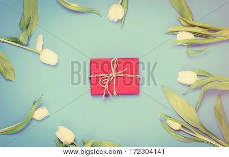 Gift And Tulips
