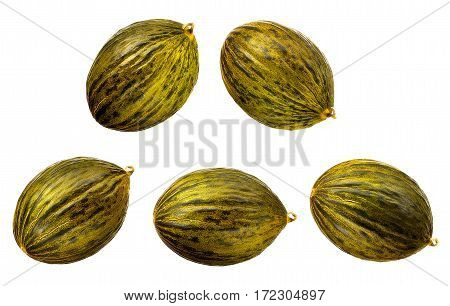 Fresh melon isolated on a white background