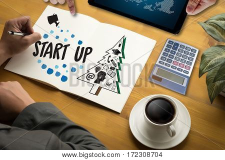 Start Up Ideas  Business Venture  Group Working Everyday