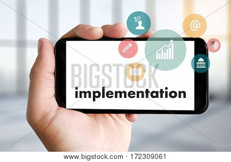 Implementation Entrepreneur Business Venture Target To Goals Expansion  Marketing Concept
