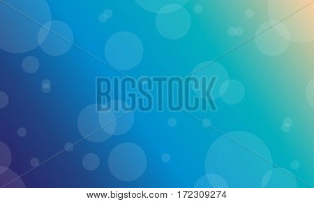 Vector flat of blue light background collection stock