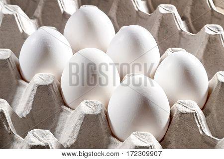 Chicken White Eggs In A Cassette