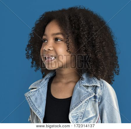 African Girl Portrait Smiling Face Expression