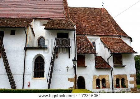 Fortified medieval church Harman - Honigberg, transylvania, Romania