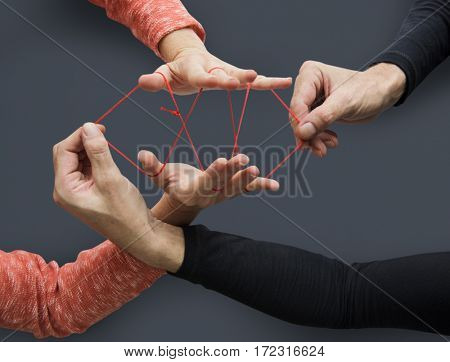 Hands Playing String Game Creativity