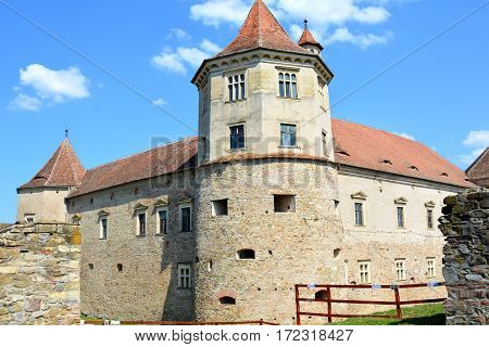 Old medieval fortress of the city Fagaras, Transylvania, Romania