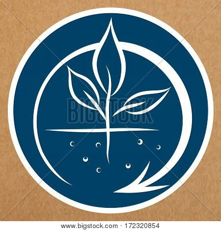 Organic production sign, eco recyclable badge, isolated vector object