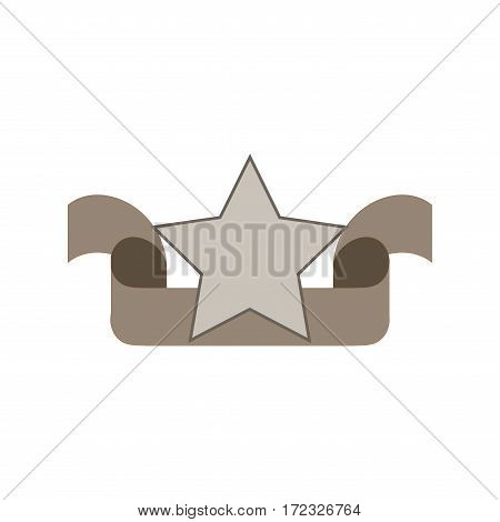 Ribbon label for food. Blank sticker labeling. Elegant form of the logo for sale. Emblem modern symbol of quality. Colorful template for badge tag wrapping etc. Design element. Vector illustration