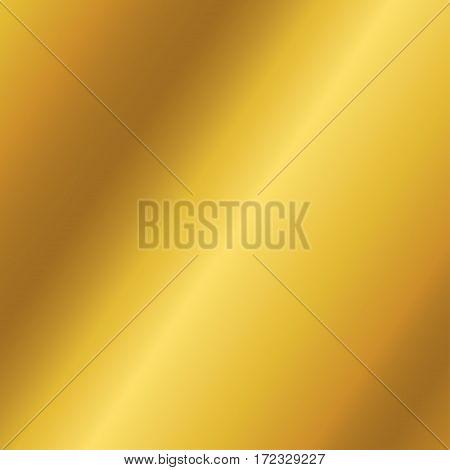 Golden metallic background texture. Gradient mesh vector illustration.