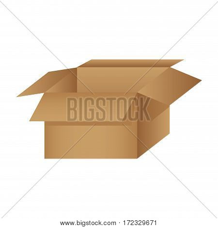 color silhouette packing open and empty vector illustration