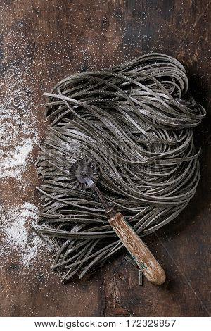 Raw Black Spaghetti Pasta