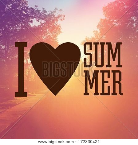 Inspirational Quote -  I Heart summer