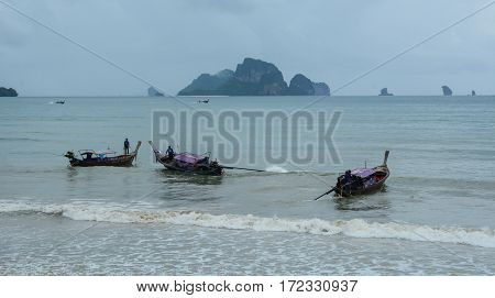 Seascape In Krabi, Southern Thailand