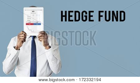 Stock exchange financial graph chart