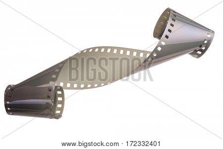 Curled film ribbon