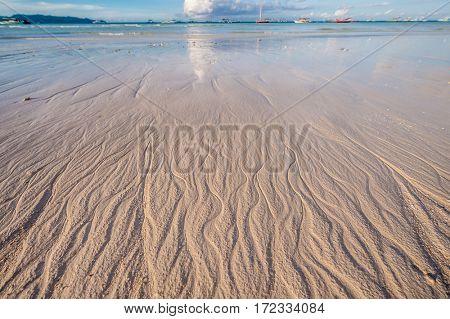 Beach at morning. Boracay, Philippines.