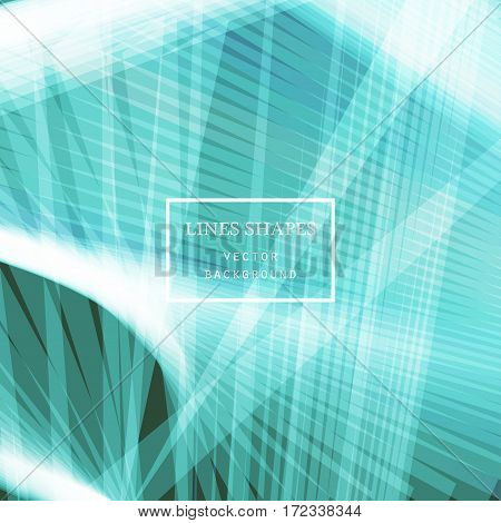 Modern technology striped abstract background vector. Blue light stripes waves lines for presentation banner brochure poster website and flyer design. Contrast colors grid