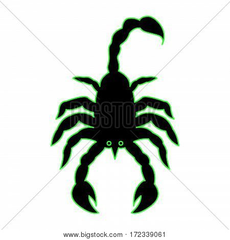 a simple scorpion as scorpio icon vector