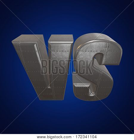 Versus Logo. VS Letters. 3D render on blue. Competition Icon and fight Symbol.