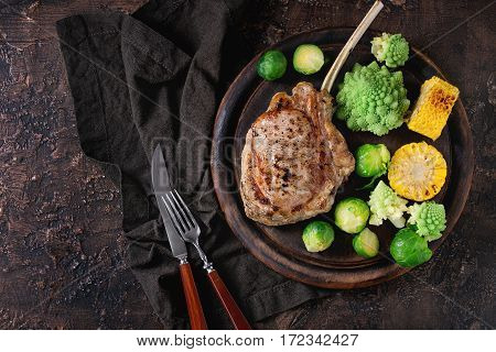 Grilled Veal Steak With Vegetables
