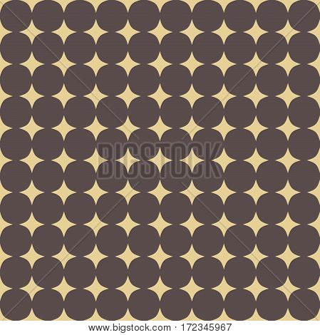 Seamless brown and goilden background for your designs. Modern vector ornament. Geometric abstract pattern