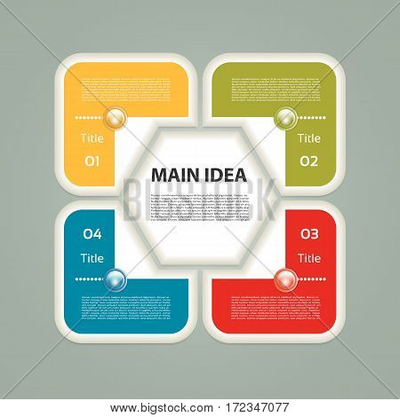Infographic Template for Business. 4 steps cycling diagram. eps 10