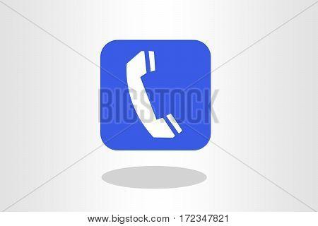 Illustration of telephone receiver against plain background