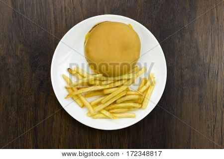 cheeseburger fries food junk food fast food cheese meat bad food not healthy bread