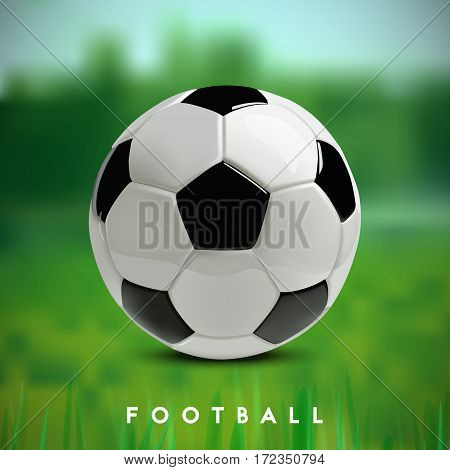 Soccer or Football 3d Ball on green background