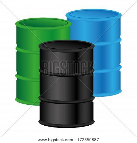 color silhouette with oil barrels vector illustration