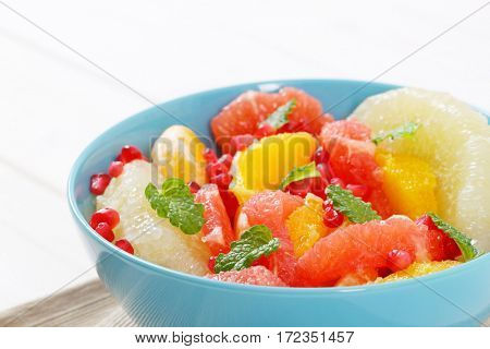 bowl of fruit salad - close up