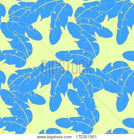 Seamless Pattern  With Bird Feather. Vector Illustration