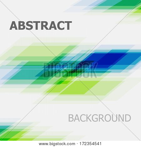 Abstract blue and green business straight line background, stock vector