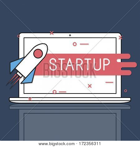 Start Up Business Venture Rocket