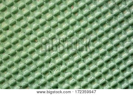 Background and texture of the surface of the wafer confectionery green