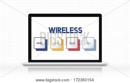 Social Media Box Buttons Concept