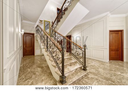 Russia,Moscow region - interior hall design in luxury country house