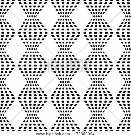 Rhombus chaotic seamless pattern. Fashion graphic background design. Modern stylish abstract monochrome texture. Template for prints textiles wrapping wallpaper website. Stock VECTOR illustration